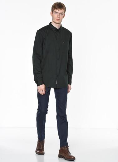 Lee Uzun Kollu Slim Fit Gömlek Yeşil